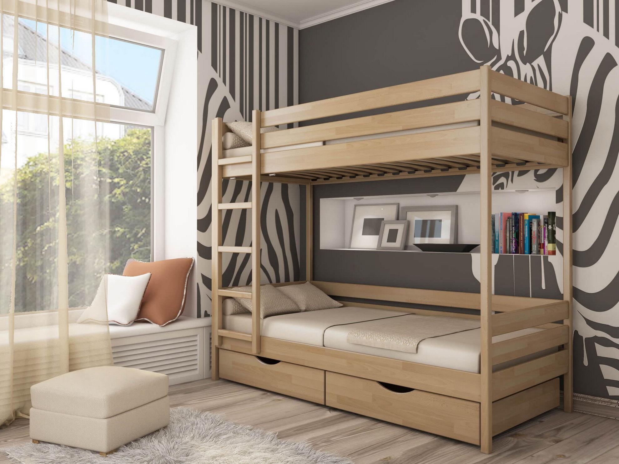 Двухярусная кровать «Дуэт» (масив)
